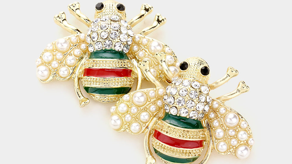 Oversized bee earrings