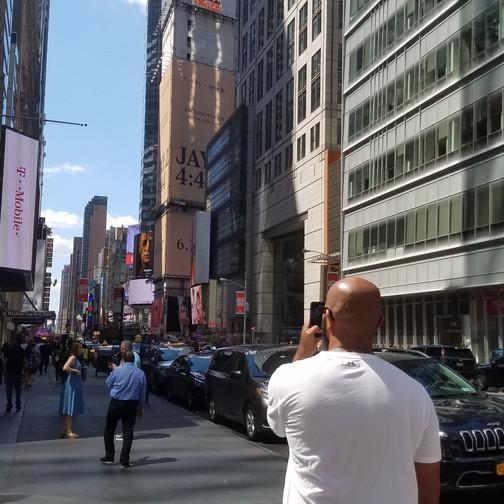 Rod in Times Square NY #RodandShy