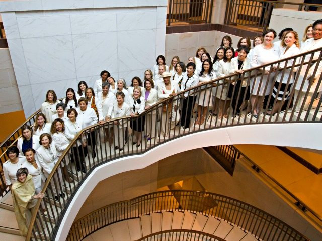 Congress Women All In White Pc: Alex Brandon