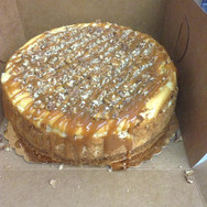 Yes we do full size cheesecakes #nomnom topped with Caramel & Pecans 😋_#cheesecake #treatyoself •_•_•_•_•_•_•_#sweetescapephilly #cake #cupc