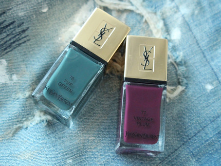 Ранняя осень в июле или YSL 76 Fur Green & 77 Vintage Plum