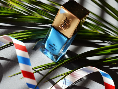 Весна YSL: La Laque Couture #96 Kinetic Blue