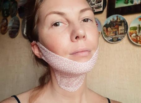 Маска для подбородка и шеи Lamucha V-up Mask Strong Lifting Chin and Neck