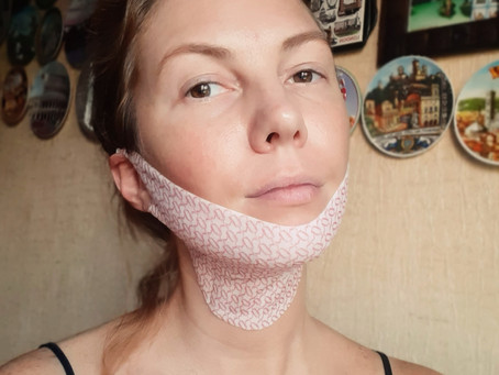 Маска для подбородка и шеи Lamucha V-up Mask Strong Lifting Chin and Neck