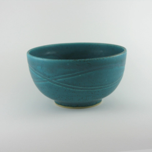 """6"""" x 3""""h Bowl In Carmen's Turquoise"""