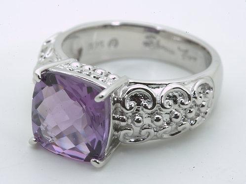 Cushion Cut Amethyst Ring