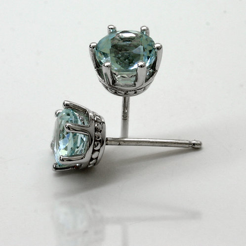 March-Aquamarine-Touch-Of-Color-Earstuds