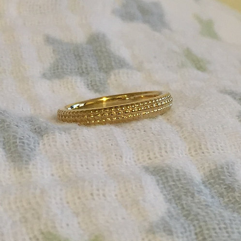 Yellow Gold Baby Promise Ring & Poem
