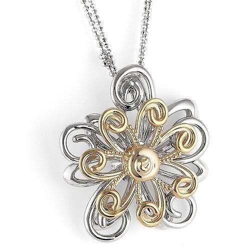 Twirl-A-Whirl Flower Pendant