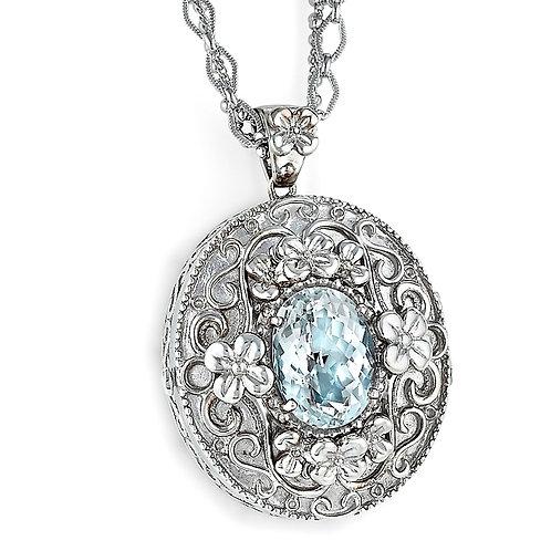 Sterling Silver Looking Glass Locket