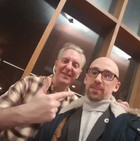 With Tony 'Longfella' Walsh in the Lyric Theatre