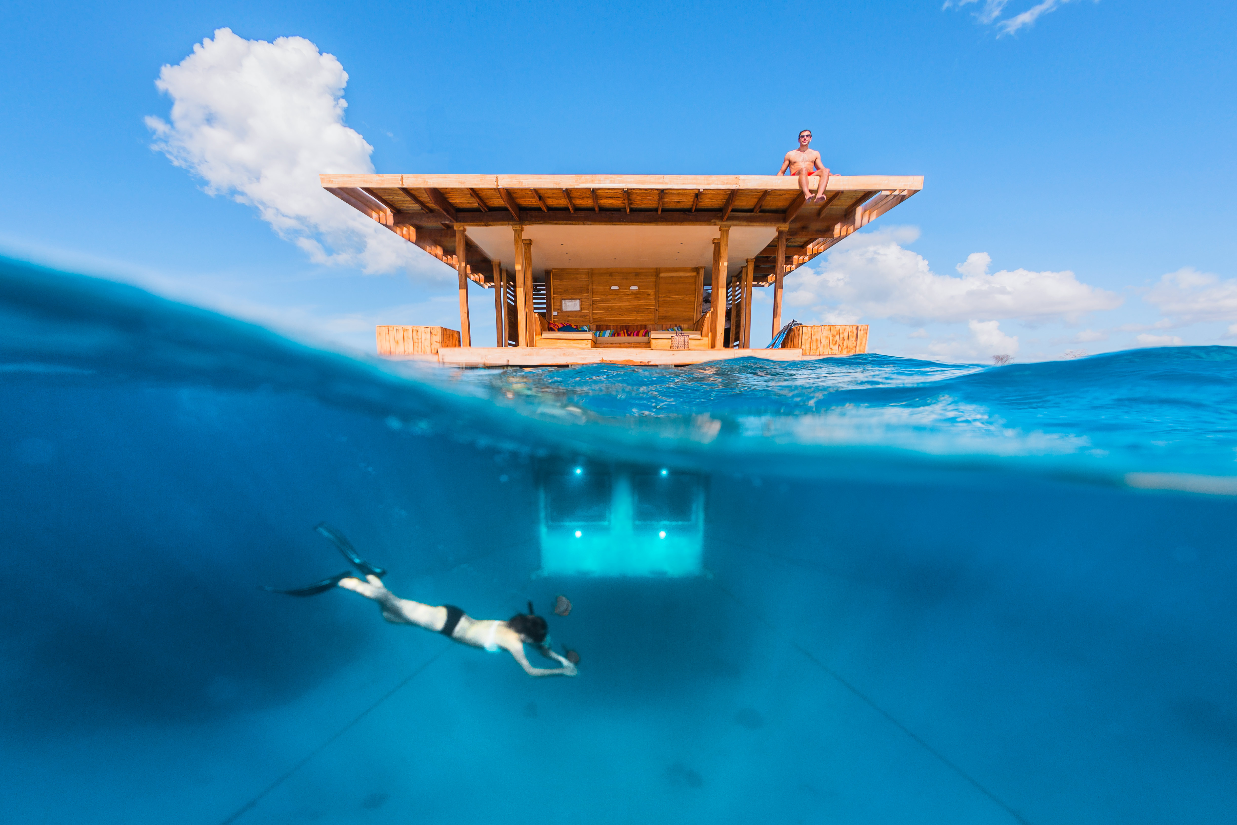 Above-and-under-water