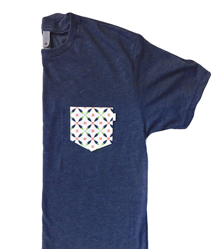 Men's Navy Triblend Tee- Jubilee Circle
