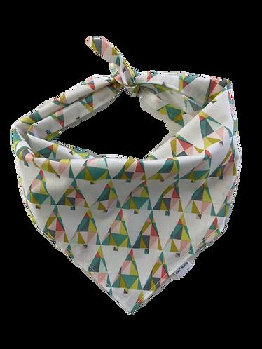 White Geometric Pattern Bandana