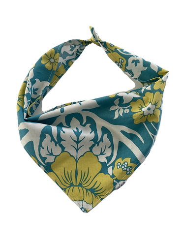 Teal and Yellow Bird Bandana