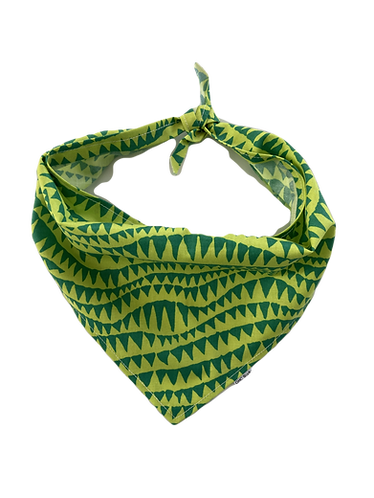 Lime Green Pattern Bandana
