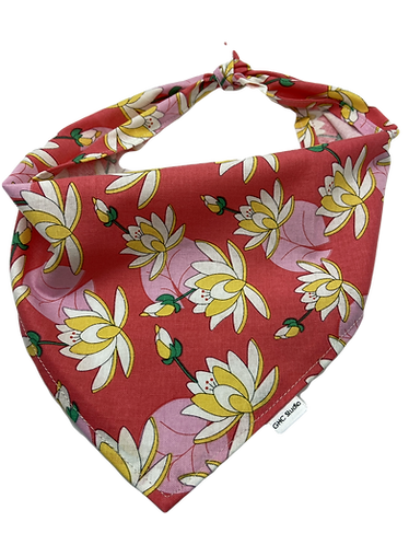 Pink Lotus Dog Bandana