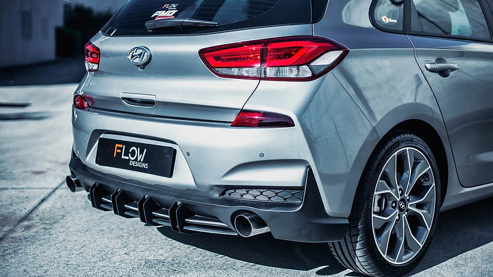 Flow Designs Rear Diffuser - i30 N-Line