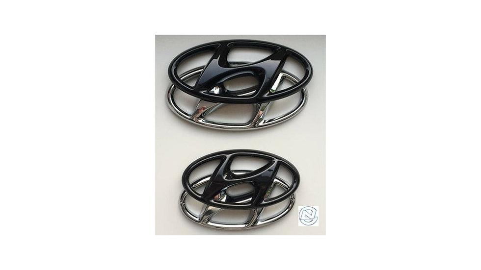 Hyundai 2021+ i20N Black Emblem Badge Cover Overlay