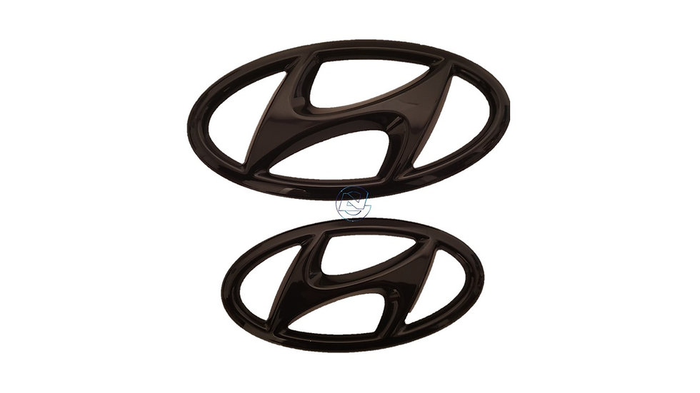 Hyundai i30 Sedan Avante NLine Black Emblem Covers