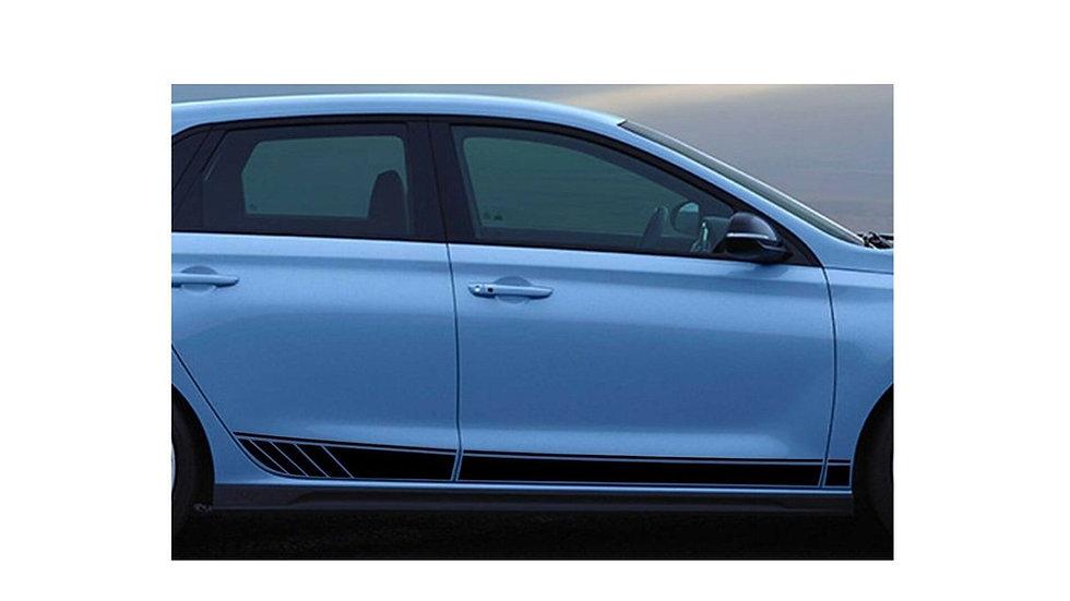 Hyundai PD i30 i30N i30NLINE Side Door Stripe Decals