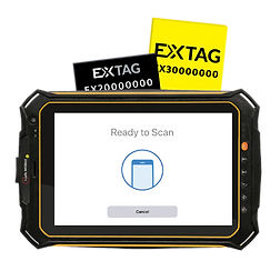 extag tablet ready to scan extag tags