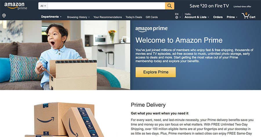 Sign in to Amazon Prime