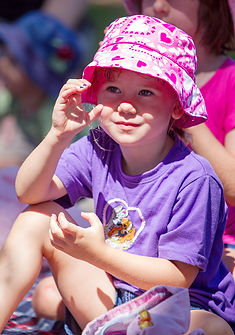 Young girl at signing class at outdoor park in Perth