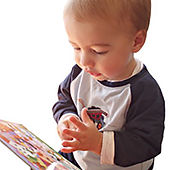 "Baby boy signing ""chicken"""