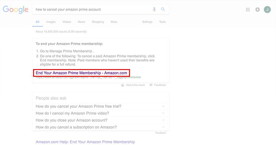 End your Amazon Prime Membership