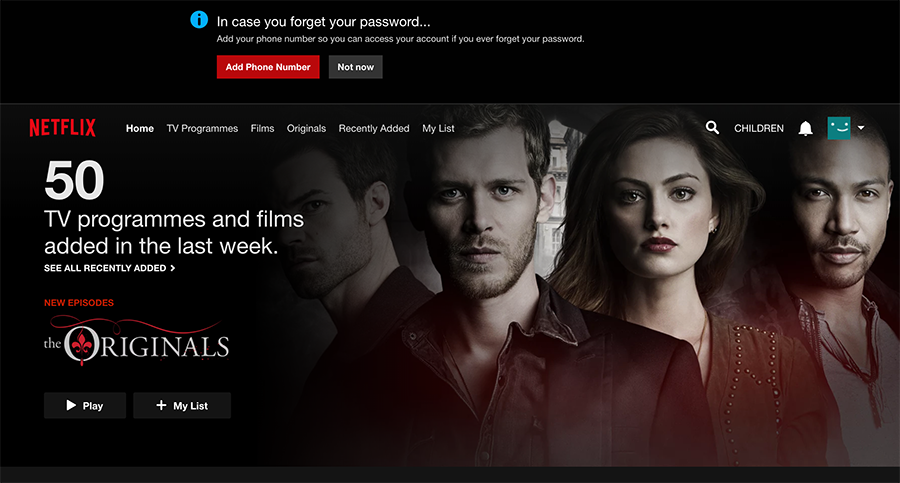 Sign in to Netflix