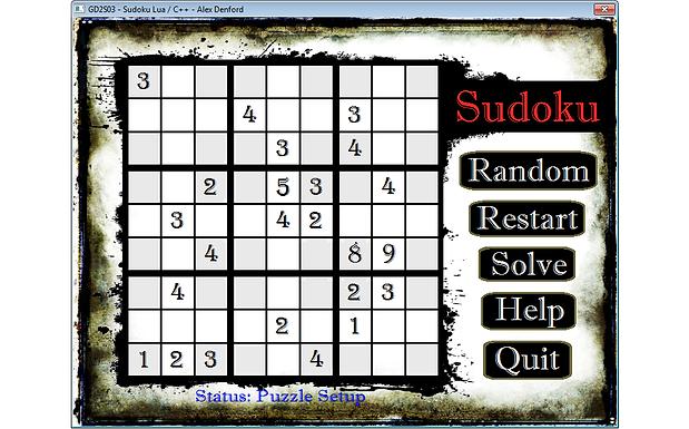 Soduku Game & Solver [C++, Lua]