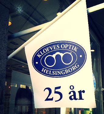 Optiker Helsingborg Klofves Optik glasögon Jubileum 25 år