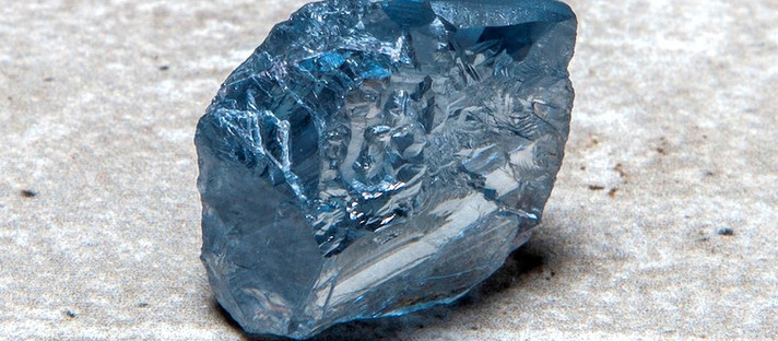Petra encontra diamante azul de 39 quilates na mina Cullinan