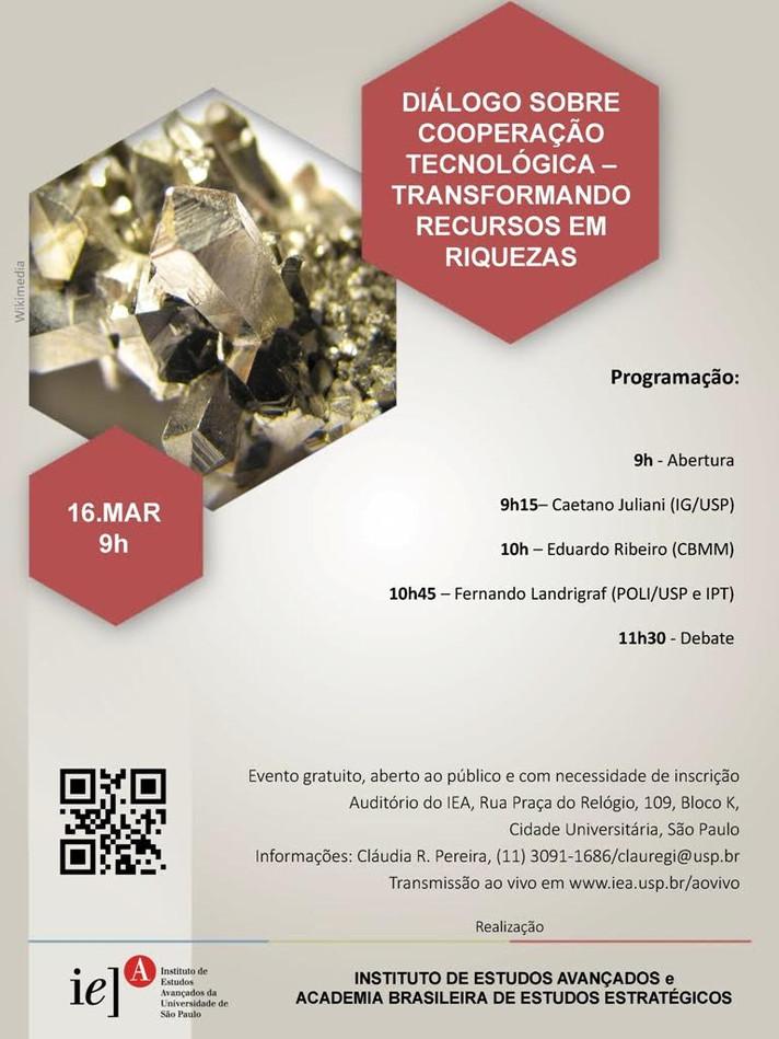 Diálogo sobre Cooperação Tecnológica - Transformando Recursos em Riquezas