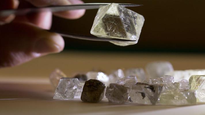 Os diamantes Alrosa agora podem ser examinados remotamente