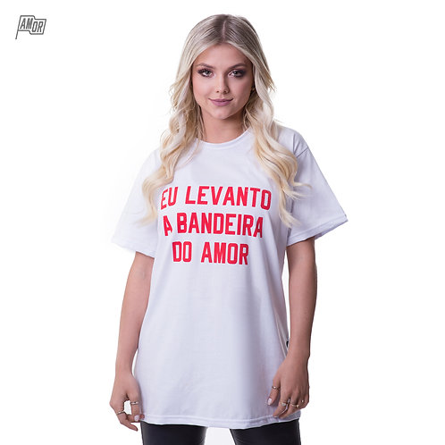 CAMISETA BANDEIRA DO AMOR BRANCA