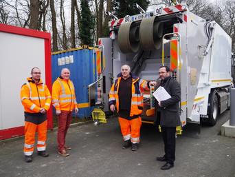 Dinan Agglo : essai d'une benne à ordures ménagères roulant au gaz naturel