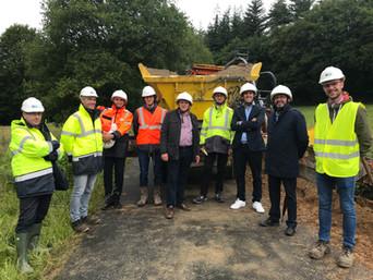 Visite du chantier de raccordement du parc éolien de Plésidy