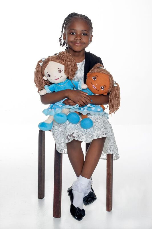 Emily with zoe doll and emily doll