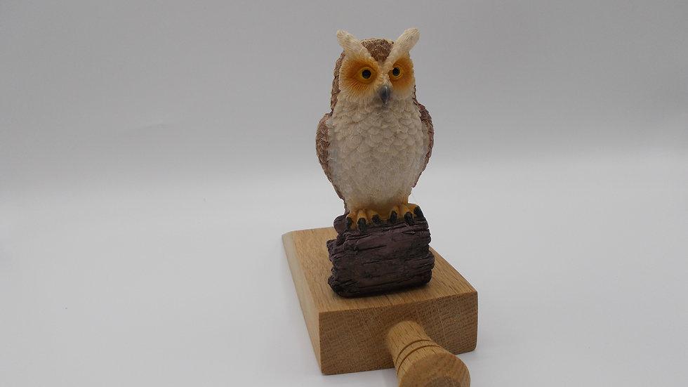 Oak Door Stop with Owl