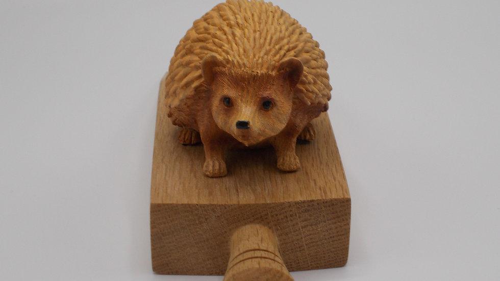 Wood effect Hedgehog door stop