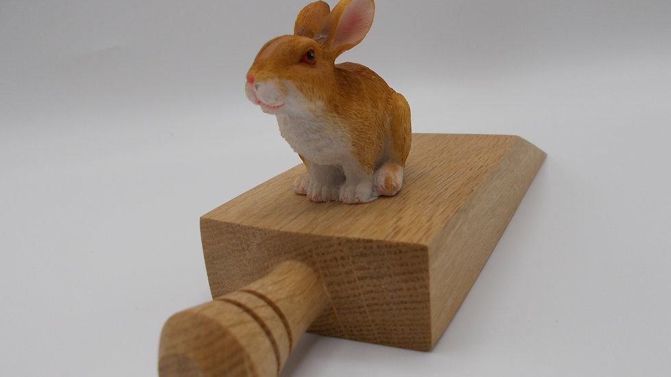 Oak Door Stop with Rabbit