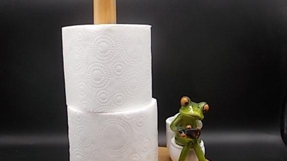 """Kitchen Roll holder -""""Frog on a Bog"""""""