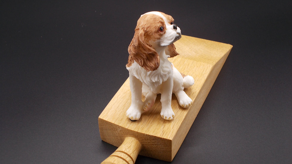 Oak Door stop with King Charles Spaniel