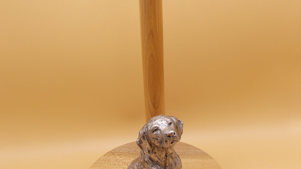 Kitchen Roll holder with Silver dog