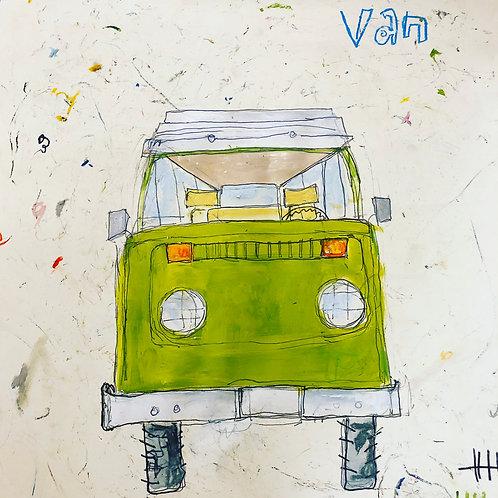 Van (paper) 16x20