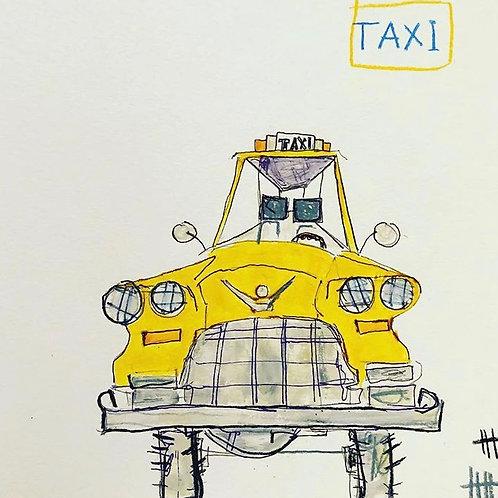 Taxi (paper) 11x14