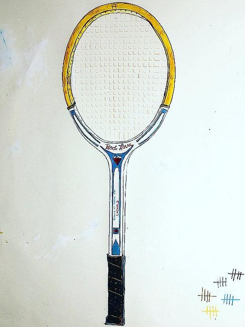 Rod Laver Racket 36x24 paper