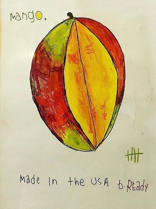 Mango (paper) 8x10